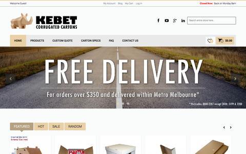 Kebet Corrugated Carton  - Cardboard Packaging, Storage Cartons, Cardboard Boxes, Custom Box Manufacturer in Melbourne, Australia