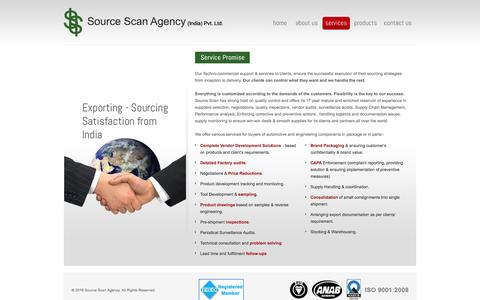 Screenshot of Services Page sourcescanagency.com - Factory Inspection and Quality Control Services | Factory Audits | Product Inspection Services - captured Feb. 25, 2016