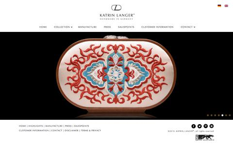 Screenshot of Home Page katrinlanger.com - KATRIN LANGER – Exclusive Bags and Accessories - captured Nov. 1, 2019