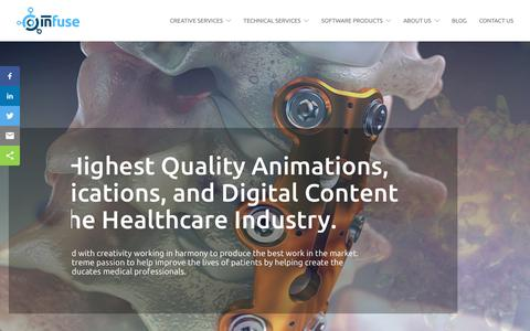 Screenshot of Home Page infusemed.com - Home - Digital Agency Medical Device Marketing - Infuse Medical - captured Oct. 11, 2018