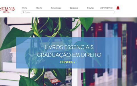 Screenshot of Home Page initiavia.com - Initia Via Editora | Livros acadêmicos - captured Sept. 15, 2018