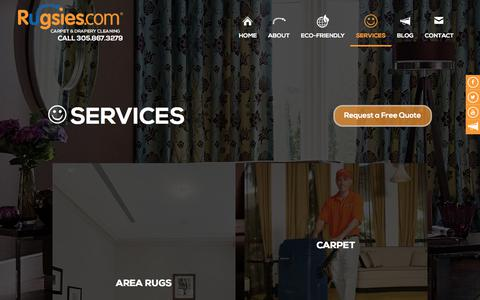 Screenshot of Services Page rugsies.com - Residential and commercial services   Rugsies - captured Sept. 21, 2018