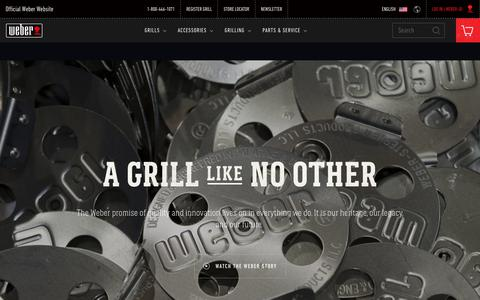 Screenshot of About Page weber.com - About Us | Weber Grills - captured Sept. 22, 2018