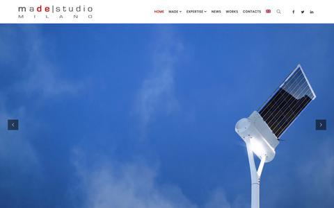 Screenshot of Home Page madestudio.it - madestudio – automotive design, industrial design, product design, architecture, exhibition, art - captured July 21, 2018