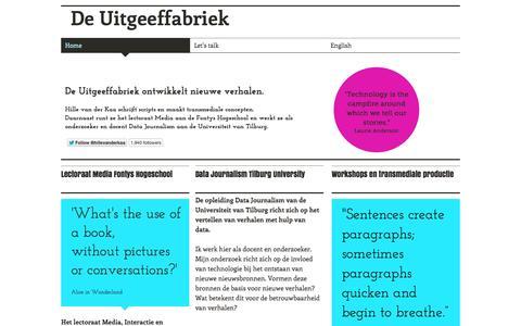 Screenshot of wix.com - uitgeeffabriek - captured Oct. 12, 2014