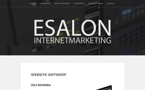 Website ontwerp – ESALON Internetmarketing