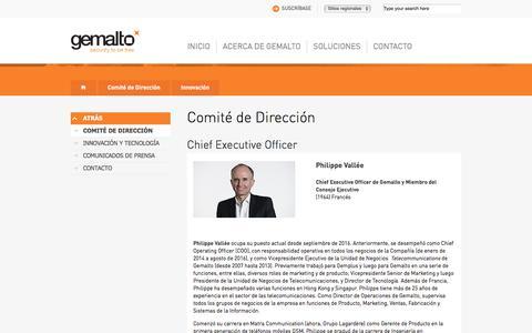 Screenshot of Team Page gemalto.com - Comité de Dirección - captured July 12, 2018