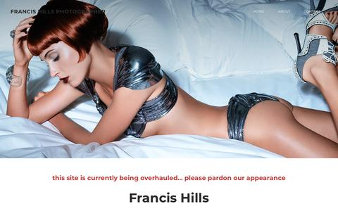 Screenshot of Home Page francishills.com - FRANCIS HILLS PHOTOGRAPHER - Landing - captured Nov. 22, 2018
