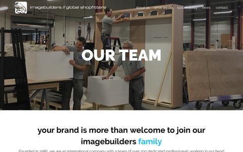 Screenshot of Team Page imagebuilders.nl - Our team | Imagebuilders - Global Shopfitters - captured July 26, 2018