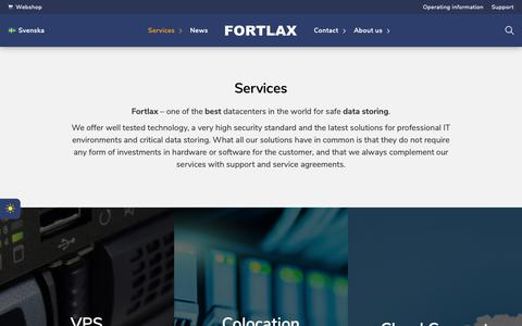 Screenshot of Services Page fortlax.se - Services | Fortlax - captured Oct. 24, 2018