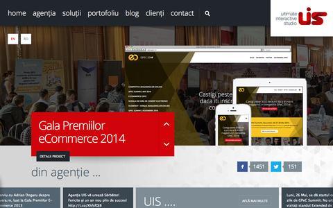 Screenshot of Home Page uis.ro - UIS - Ultimate Interactive Studio - captured Sept. 30, 2014