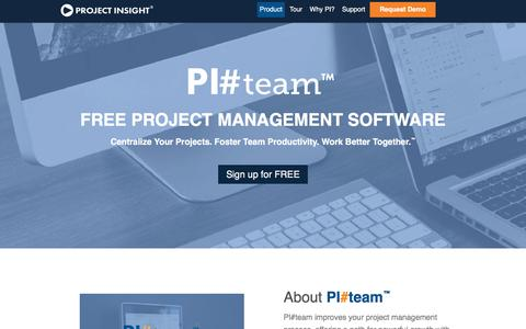 Screenshot of Team Page projectinsight.net - Project Management Team | PI#team - captured Feb. 20, 2018