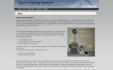 Screenshot of About Page sportsstartingsystems.com.au - About - Sports Starting Systems - captured Jan. 13, 2016