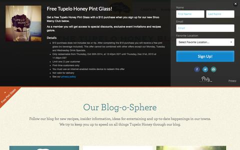 Screenshot of Blog tupelohoneycafe.com - Blog | Tupelo Honey Cafe - captured Aug. 4, 2015