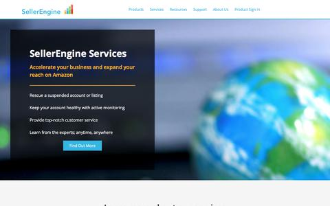 Screenshot of Services Page sellerengine.com - Services for Amazon Sellers - Seller Engine - captured Aug. 31, 2019
