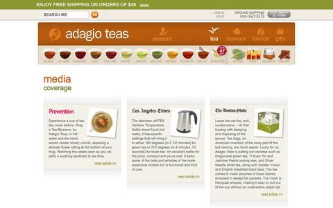 Adagio Teas - Media