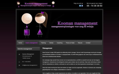 Screenshot of Team Page kooman-management.nl - Kooman management - captured Sept. 30, 2014