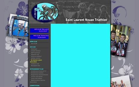 Screenshot of Press Page onlinetri.com - Tri St Laurent Nouan [] - captured Feb. 19, 2016