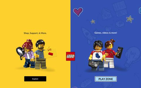 Screenshot of About Page lego.com - About us - LEGO.com US - captured Sept. 11, 2019
