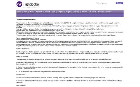 Screenshot of Privacy Page flightglobal.com - Flightglobal Terms and conditions - captured Sept. 18, 2014