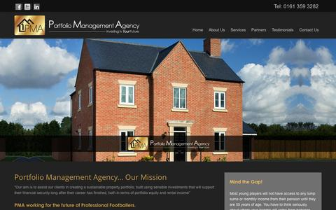 Screenshot of Home Page pmagency.co.uk - PMA Agency - Portfolio Management Agency Manchester - captured Jan. 30, 2016
