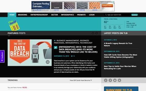 Screenshot of Home Page thelocalbrand.com - Welcome to TheLocalBrand.com   @thelocalbrand   World's best website for local brands - captured Oct. 2, 2015