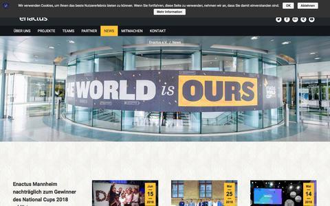 Screenshot of Press Page enactus.de - News - enactus - captured Sept. 23, 2018