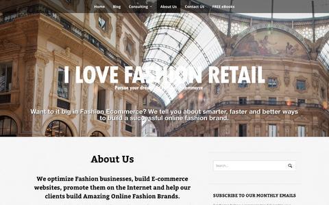 Screenshot of About Page ilovefashionretail.com - Pulkit Rastogi: Founder / Editor - ILoveFashionRetail.com | Pursue your dreams in Fashion E-commerce - captured Sept. 30, 2014