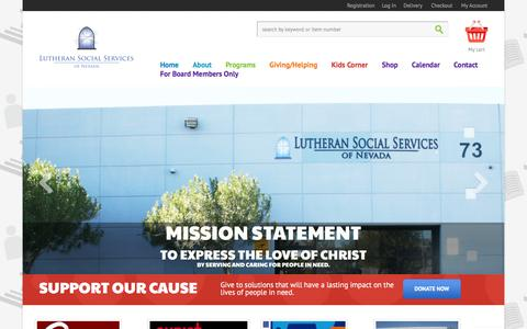 Screenshot of Home Page lssnv.org - Lutheran Social Services of Nevada | - captured Feb. 2, 2016