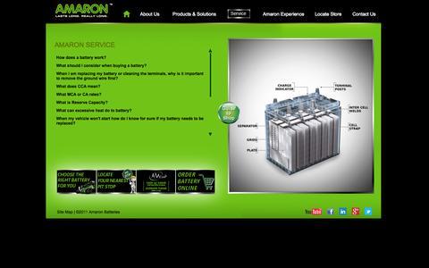 Screenshot of FAQ Page amaron.in - Amaron - FAQs - captured Sept. 23, 2014