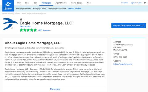 Eagle Home Mortgage, LLC Ratings and Reviews   Zillow