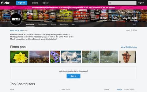 Screenshot of Flickr Page flickr.com - Flickr: The Orms Pool - captured Nov. 2, 2014