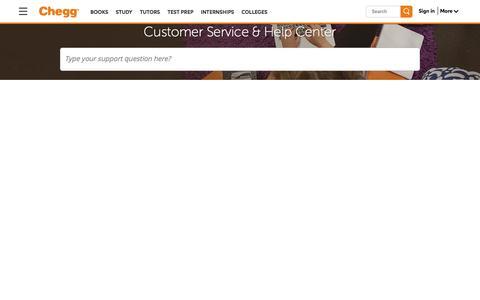 Screenshot of Contact Page chegg.com - Chegg Customer Service Phone Number & Help Center | Chegg.com - captured Dec. 20, 2016