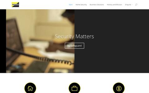 Screenshot of Home Page safeguard.co.zw - Safeguard | When Security Matters - captured Jan. 23, 2015