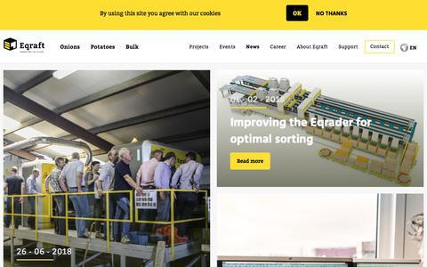 Screenshot of Press Page eqraft.com - News Overview - captured Sept. 26, 2018