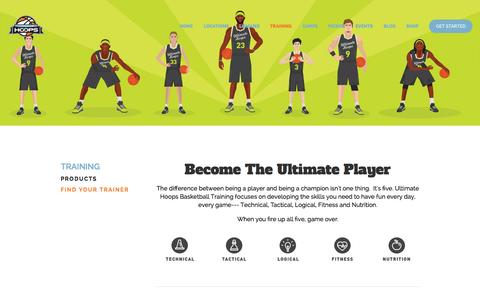 Screenshot of Products Page uhlife.com - Ultimate Hoops Basketball Training — Ultimate Hoops Basketball - captured Oct. 27, 2014