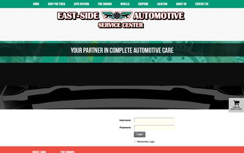 Screenshot of Login Page east-sideautomotive.com - User Log In - captured Oct. 20, 2016