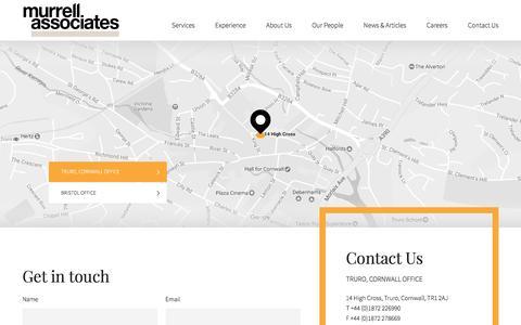 Screenshot of Contact Page murrellassociates.co.uk - Contact Murrell Associates - captured Dec. 19, 2016