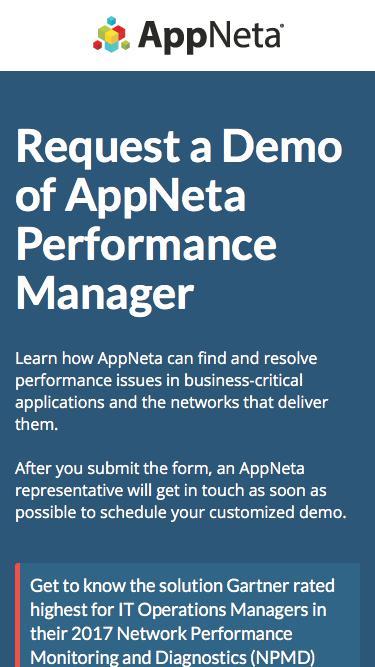 Request Demo | End User Performance Monitoring | AppNeta