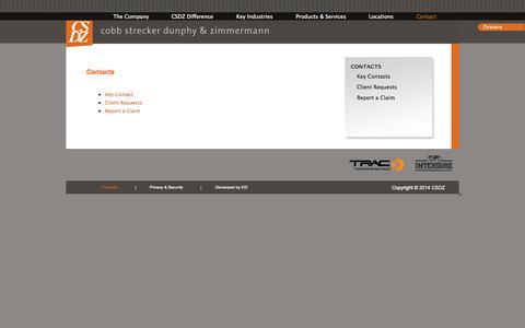 Screenshot of Contact Page csdz.com - Contacts - CSDZ - captured Oct. 3, 2014