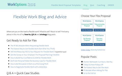 Screenshot of Blog workoptions.com - Advice Columns from Pat Katepoo of WorkOptions.com - captured June 13, 2018
