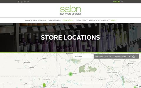 Screenshot of Locations Page salonservicegroup.com - Salon Service Group Locations - Salon Service Group - captured July 27, 2018