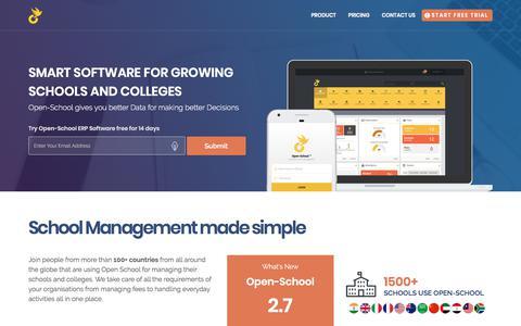Screenshot of Home Page open-school.org - Open School: Enterprise School Management Software - captured Sept. 22, 2018