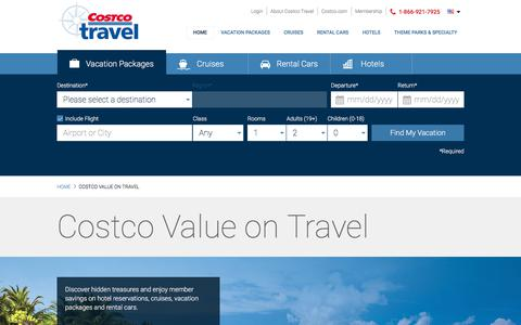 Vacations and Cruises with Costco Value.