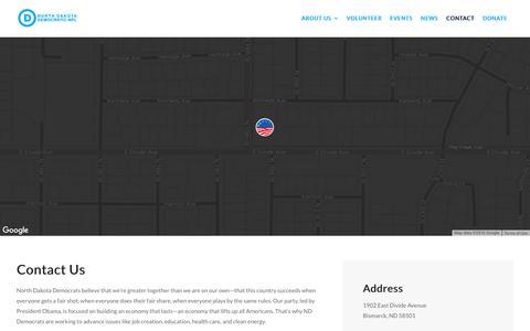 Screenshot of Contact Page demnpl.com - Contact   Dem-NPL Party - captured Nov. 30, 2016