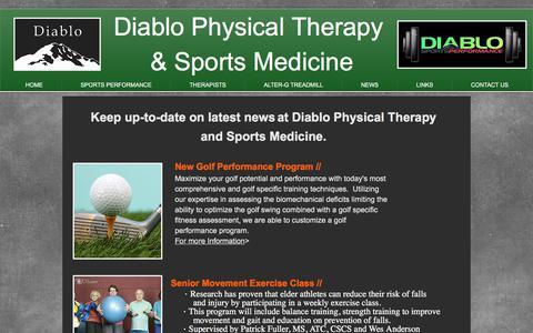 Screenshot of Press Page diablopt.com - News - captured Oct. 12, 2017