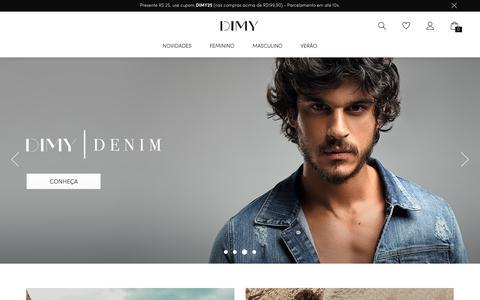 Screenshot of Home Page dimyoficial.com - Dimy - Loja Oficial - captured Nov. 20, 2018