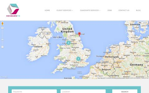 Screenshot of Jobs Page hexagonfm.co.uk - Find a Facilities Management Job | Hexagon FM - captured Nov. 2, 2014