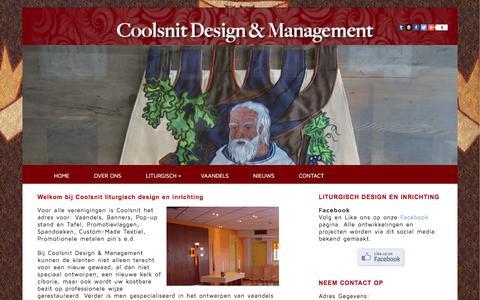 Screenshot of Home Page coolsnit.nl - Coolsnit Liturgisch design en management - captured Jan. 31, 2016