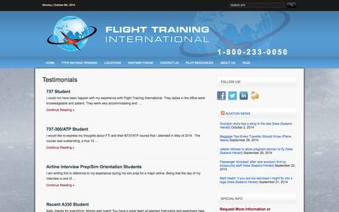 Screenshot of Testimonials Page ftiratings.com - Testimonials Archives « - captured Oct. 6, 2014